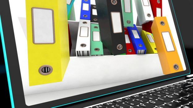 Representación de archivos dentro de una computadora
