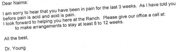 Email enviado por Young a Naima