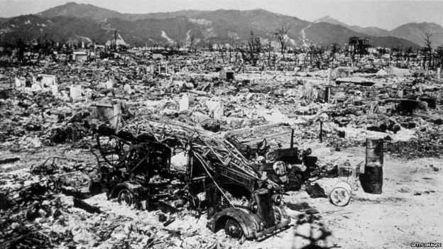 Damage in Hiroshima, 1945