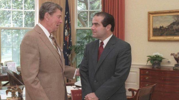 Ronald Reagan and Antonin Scalia