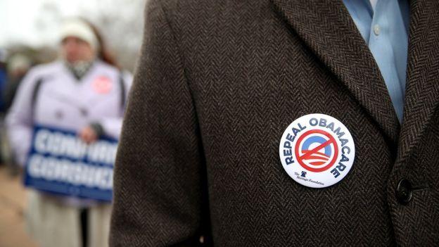 Protesta contra Obamacare