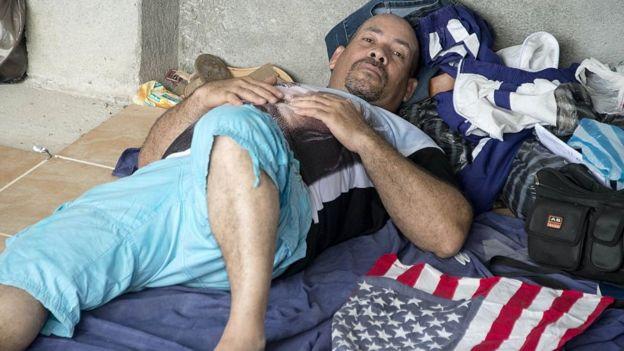 Migrante cubano varado en la frontera entre Nicaragua y Costa Rica
