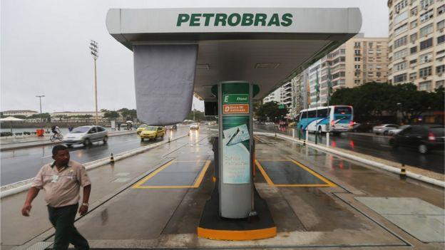 Petrobras petrol station in Rio de Janeiro