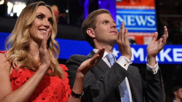 Lara Yunaska y Eric Trump