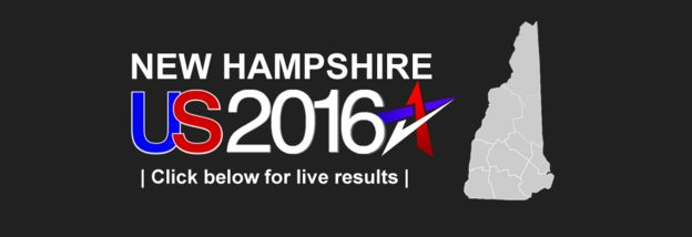 Text reads: New Hampshire US 2016 - click below for live results