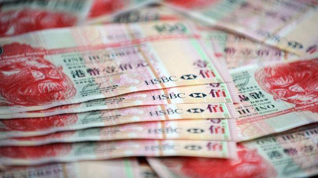 匯豐銀行100港元鈔票(資料圖片)