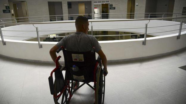 Soldado colombiano afectado por el conflicto