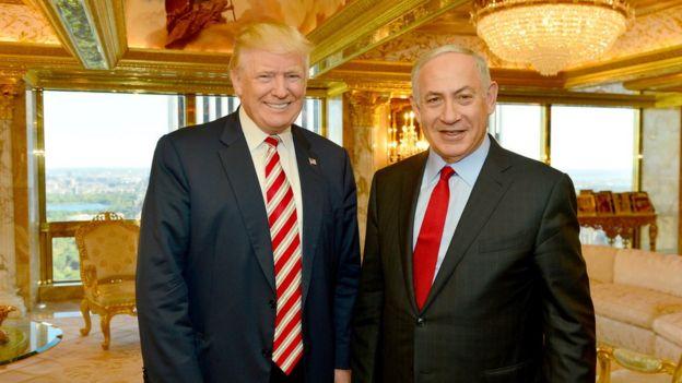 Donald Trump, Benjamin Netanyahu, Israel, AS
