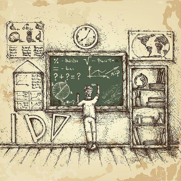 Ilustración de un salón de clase
