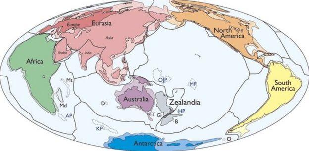 Map of Zealandia