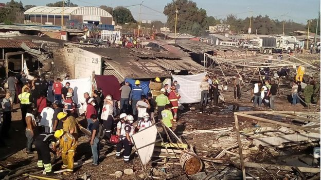 Photos tweeted by the Mexican Red Cross showed the scorched debris at the scene