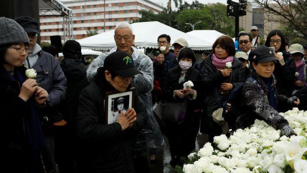 二二八事件受难者家属表示哀悼