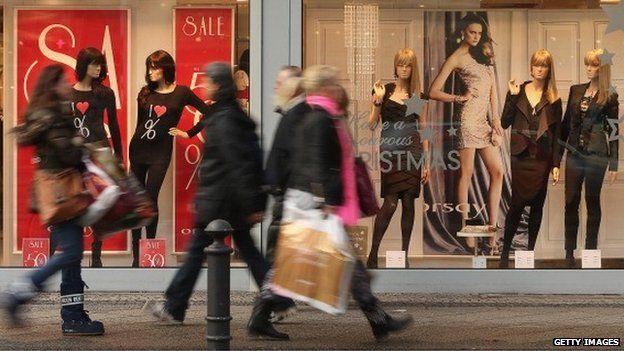 Shoppers in Berlin, Germany