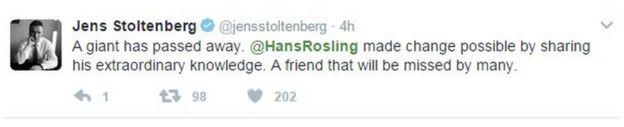 Un gigante se ha ido. Hans Rosling hizo posible el cambio compartiendo su extraordinario conocimiento. Un amigo a quien muchos extrañaremos