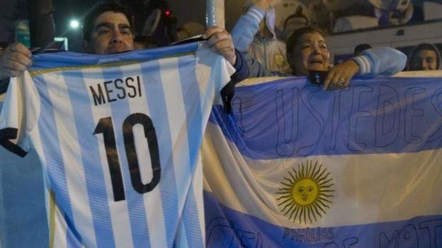 Messi es un ídolo en Argentina, pese a la derrota en la Copa América.