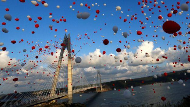 Inauguración del puente Yavuz Sultan Selim