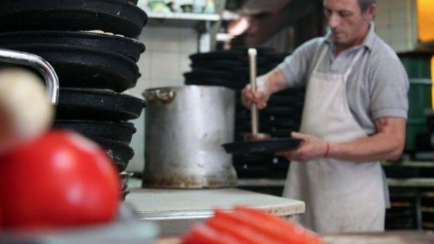 En Argentina, como en Italia, los tomates y la salsa pomodoro (fileto) son de buena calidad hasta en el restaurante más básico.