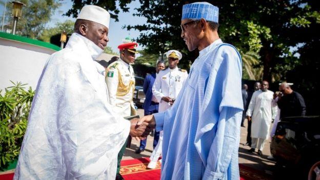 Gambian President Yahya Jammeh receives Nigeria