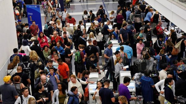 The false alarm caused a great deal of disruption at LAX - one of America's busiest airports