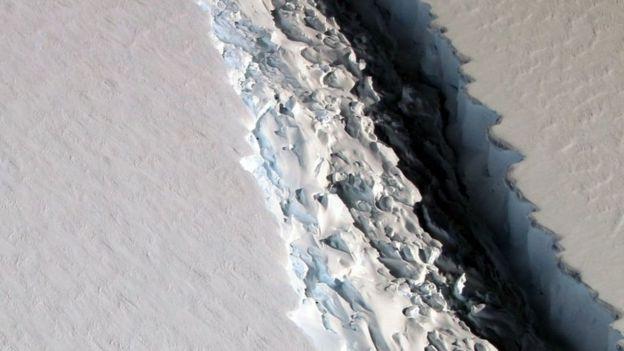 Grieta en la Antártica