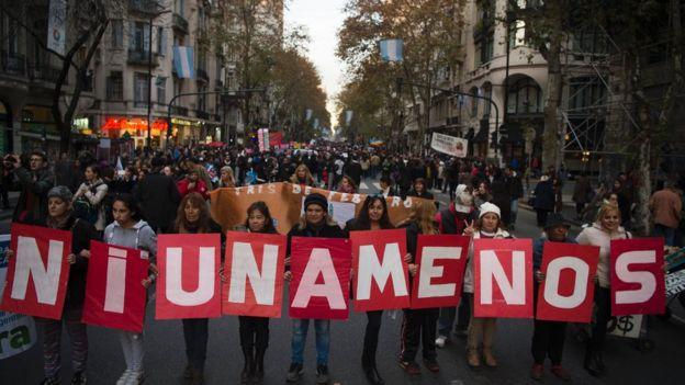Manifestação na Argentina