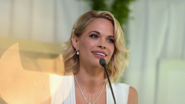Dani Mathers at the awards ceremony where she was made Playboy's Playmate of the Year in May 2015