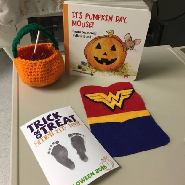 The treats given to the babies for Halloween