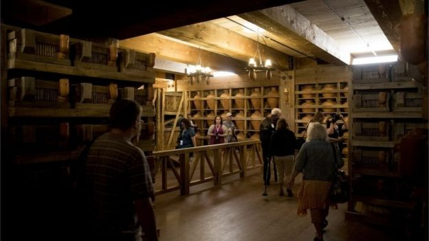 Patrons tour the interior of the Ark Encounter.