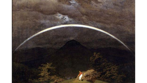 Paisagem Montanhosa com Arco-Íris (Caspar David Friedrich, 1809-1810)