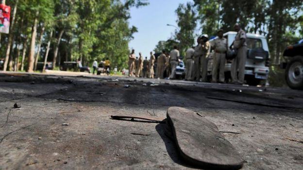 The scene of clash in Dadri