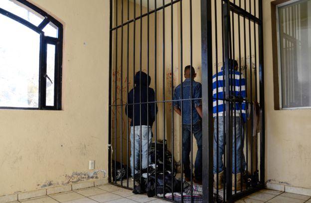 Jóvenes detenidos en Cherán