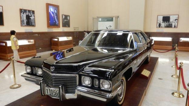 中正紀念堂內展示了蔣介石生前使用的座車