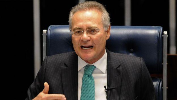 El líder del Senado, Renan Calheiros
