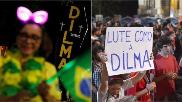 Protestos pró e contra a presidente Dilma Rousseff