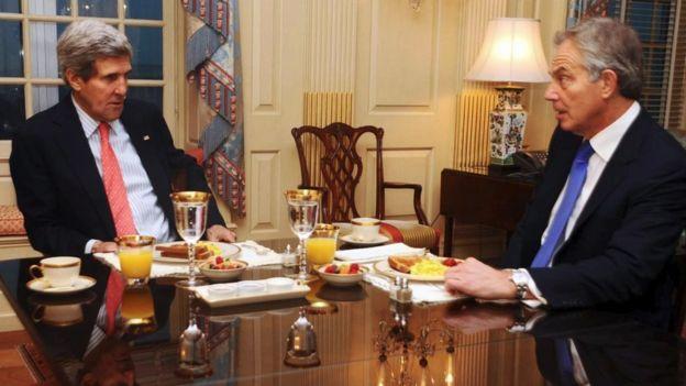 John Kerry e Tony Blair