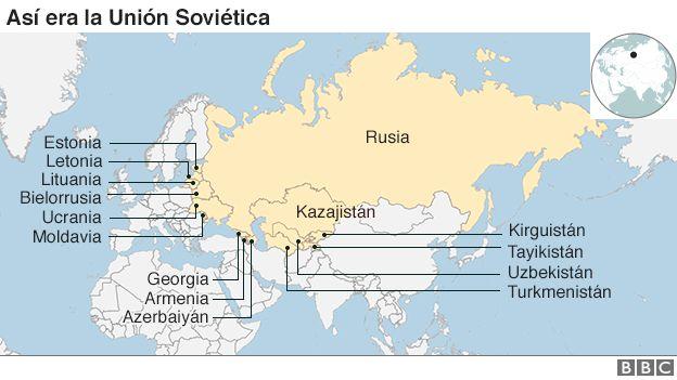 Mapa de la Unión Soviética
