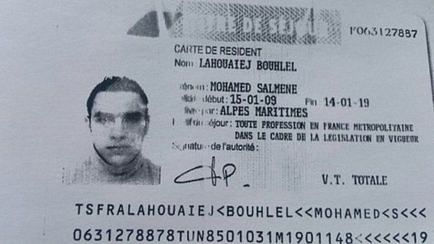 Residence permit of Lahouaiej-Bouhlel
