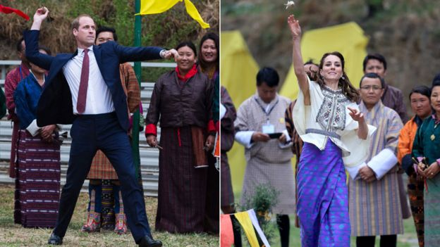 Duke and Duchess of Cambridge try their hand at khuru