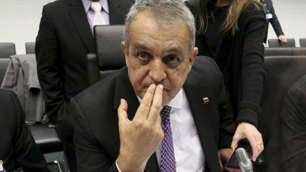 El ministro de Petróleo de Venezuela, Eulogio del Pino