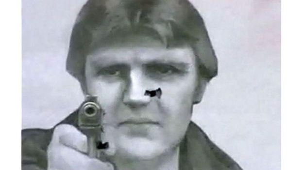 صورت الکساندر لیتوینینکو که در یک باشگاه تیراندازی مسکو به عنوان هدف استفاده میشود