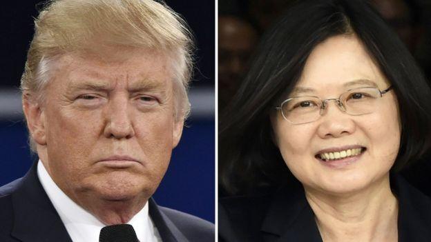 Trump and Taiwan's President Tsai Ing-wen