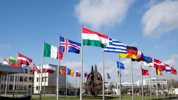NATO headquarters in Brussels (file)