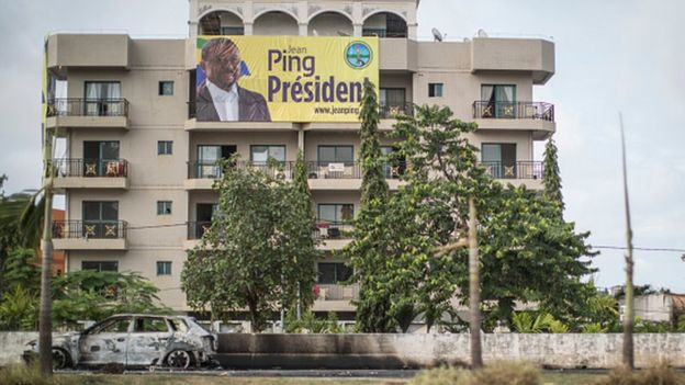 QG de Jean Ping à Libreville