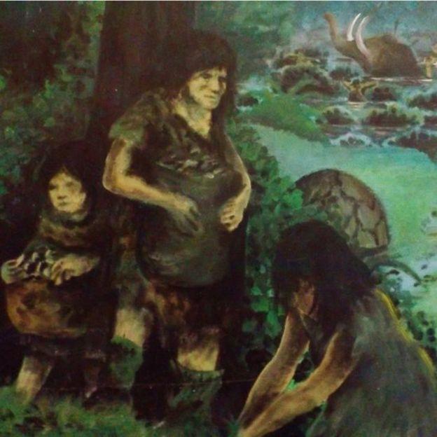 Una interpretación pictórica del artista Rodrigo Díaz sobre cómo pudo ser esta milenaria cultura.