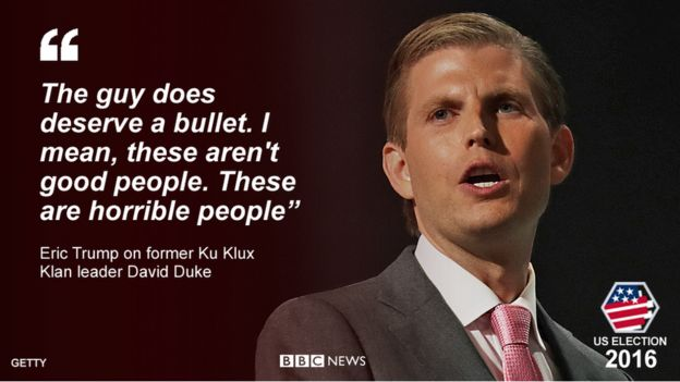 Quote from Eric Trump:
