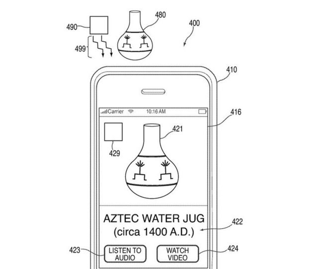 An Aztec Water Jug on a smartphone screen