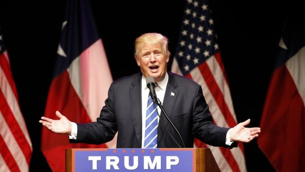 Trump no lançamento de sua campanha