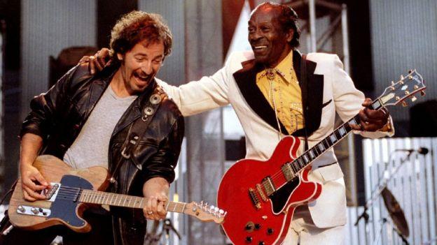 Chuck Berry con Bruce Springsteen