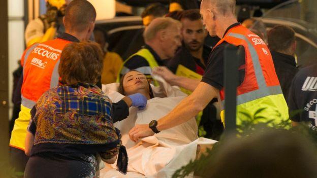 Heridos en Niza