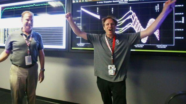 Celebrando el éxito de la misión Juno.